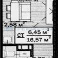 1-комнатная квартира, УЛ. НОВОСЕЛОВ