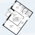 2-комнатная квартира,  ул. Ватутинская 1-я, 9
