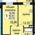 1-комнатная квартира, ПР-КТ. АЛЬБЕРТА КАМАЛЕЕВА, 34