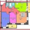 3-комнатная квартира, УЛ. КРЫЛОВА