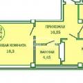 2-комнатная квартира, Горсоветская 57