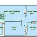 1-комнатная квартира, РОСТОВ-НА-ДОНУ, ГОРСОВЕТСКАЯ 57