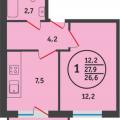 1-комнатная квартира, УЛ. МАЙКОПСКАЯ, 40