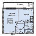 1-комнатная квартира, УЛ. ЗАРЕЧНАЯ 2-Я, 37