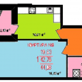 1-комнатная квартира, ул. Мира