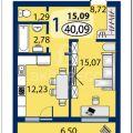 1-комнатная квартира, УЛ. ШИРОТНАЯ, 217