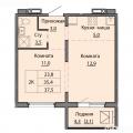 2-комнатная квартира, УЛ. СЕВЕРО-ЗАПАДНАЯ, 15