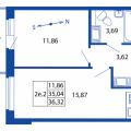 1-комнатная квартира, УЛ. ПРАЖСКАЯ, 11 СТ1