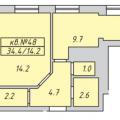 1-комнатная квартира, УЛ. ЦЕНТРАЛЬНАЯ, 63