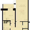 1-комнатная квартира,  пр-кт. Московский, 90