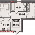 2-комнатная квартира, УЛ. ТРЕТЬЯКОВСКАЯ, 5