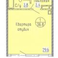 1-комнатная квартира, УЛ. ЖЕРДЕВА, 44