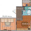 2-комнатная квартира, УЛ. В.БИСЯРИНОЙ, 3