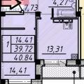 1-комнатная квартира, УЛ. ПЕРЕЛЕТА, 19