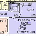 1-комнатная квартира, УЛ. 2-Я ВОЛОДАРСКОГО, 170/41