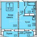 1-комнатная квартира, АЛЕКСАНДРА МИТИНСКОГО, 1