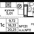 1-комнатная квартира, ДЕРЕВНЯ ВАТУТИНКИ
