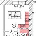 1-комнатная квартира, УЛ. 2-Я ТРАМВАЙНАЯ, 39