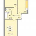 2-комнатная квартира,  п. Биофабрика, 3 к1