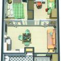 2-комнатная квартира,  Солнечный бульвар, 18к1