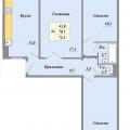 3-комнатная квартира,  п. Биофабрика, 3 к 1