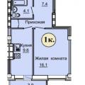 1-комнатная квартира, г Омск, б-р Архитекторов