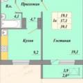 1-комнатная квартира,  п. Биофабрика, 3 к1