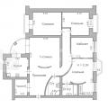 4-комнатная квартира,  Волочаевская, д 15, к 1