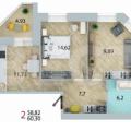 2-комнатная квартира,  ул. 3-я Енисейская, 28стр