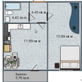 1-комнатная квартира,  ул. 3-я Енисейская, 32к4