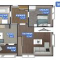 2-комнатная квартира,  ул. Взлетная, 4А