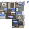 3-комнатная квартира,  ул. Взлетная, 4А
