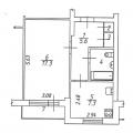1-комнатная квартира, дп. Чернолучинский, ул. Пионерская, 17