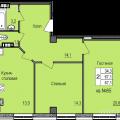 2-комнатная квартира, УЛ. 8-Й ВОЗДУШНОЙ АРМИИ, 14