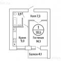 1-комнатная квартира,  УЛ. ОСЕТИНСКАЯ, 11
