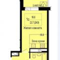 1-комнатная квартира, УЛ. ГИДРОСТРОИТЕЛЕЙ, 22