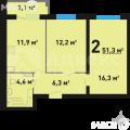 2-комнатная квартира, УЛ. ФЕДЮНИНСКОГО, 10 К1