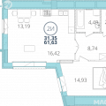 2-комнатная квартира,  ул. Дубравная, 16 стр 10