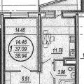 1-комнатная квартира, УЛ. ИМ ГЕНЕРАЛА И.Л. ШИФРИНА, 5