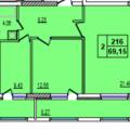 2-комнатная квартира, УФА, УЛ. ЭНТУЗИАСТОВ, 12