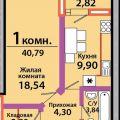 1-комнатная квартира,  УЛ. КРАСНАЯ, 111