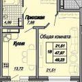 1-комнатная квартира, УЛ. МОРСКАЯ, 111