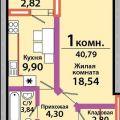 1-комнатная квартира, УЛ. КРАСНАЯ, 174
