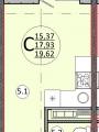 1-комнатная квартира, УЛ. ИМ КИРИЛЛА РОССИНСКОГО, 88
