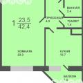 1-комнатная квартира, УЛ. ОБДОРСКАЯ, 5