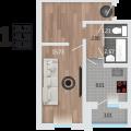 1-комнатная квартира, Корейская 6а
