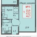 1-комнатная квартира, Ленинский проспект, 16 корп4