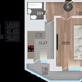 1-комнатная квартира, 9 января  243
