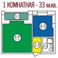1-комнатная квартира, С. ТРОИЦКОЕ, ПР-КТ. ЯСНОПОЛЯНСКИЙ, 1А