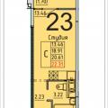 1-комнатная квартира, деревня Лопатино, 21